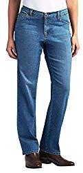 LEE Women's Relaxed Fit Straight Leg Jean, Meridian, 12 Short