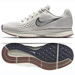 Nike WMNS Air Zoom Pegasus 34 880560-004 Light Bone/Chrome/Pale Grey Women's Running Shoes (8.5)