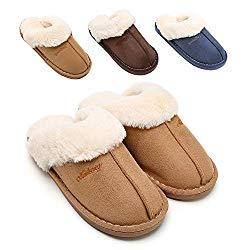 SOSUSHOE Womens Slipper, Fluffy Slip On House Slippers Clog Soft Indoor Outdoor Slipper for Winter, 8.5-9 B(M) US