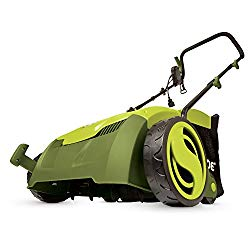 Sun Joe AJ801E 12 Amp 12.6″ Electric Scarifier Plus Lawn Dethatcher with Collection Bag