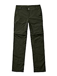 Women's Saturday Stretch Trail Convertible Pants, Quick Dry Hiking Fishing Zip Off Cargo Trousers #2057-Army Green,M 30