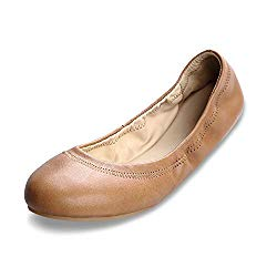 Xielong Women's Chaste Ballet Flat Lambskin Loafers Casual Ladies Shoes Leather Coffee 8