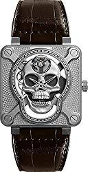 Bell & Ross Instruments BR 01 Laughing Skull 46mm Men's Watch Ref. BR01-SKULL-SK-ST