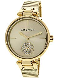 Anne Klein Women's Swarovski Crystal Accented Bracelet Watch
