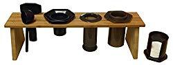 Bamboo Caddy Rack for AeroPress Coffee Maker