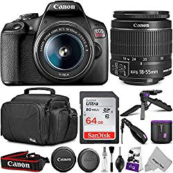 Canon EOS Rebel T7 DSLR Camera with EF-S 18-55mm is II Lens + 64GB SanDisk Memory Card and Altura Photo Camera Bag and Accessory Bundle