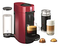 Nespresso VertuoPlus Coffee and Espresso Maker by De'Longhi with Aeroccino, Red