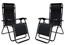 Caravan Canopy 80009000052 Sports Infinity Zero Gravity Chair (2 Pack), Black