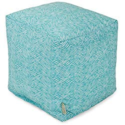 Majestic Home Goods Navajo Cube, Small, Teal