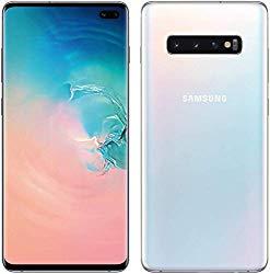 Samsung Galaxy S10+ Plus 128GB+8GB RAM SM-G975F/DS Dual Sim 6.4″ LTE Factory Unlocked Smartphone International Model No-Warranty (Prism White)
