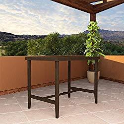 Cosco Outdoor Living 88467QDTE Cosco Outdoor Furniture Bar Table, Dark Brown