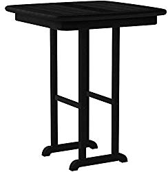 POLYWOOD NCRT31BL Counter Table, Black