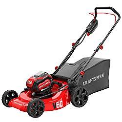 CRAFTSMAN V60 3-in-1 Cordless Lawn Mower, 21-Inch (CMCMW260P1)