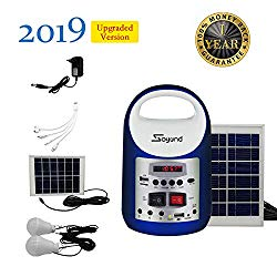 soyond Portable Solar Generator with Solar Panel Solar Powered Generator Inverter Small Basic Portable Electric Generator Kit