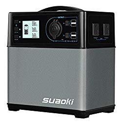 SUAOKI 400Wh/120,000mAh Portable Generator Power Station Power Supply with Quiet 300W DC/AC Inverter, 12V Car, DC/AC/USB Outputs for Outdoors Camping Travel Fishing Hunting CPAP Trips