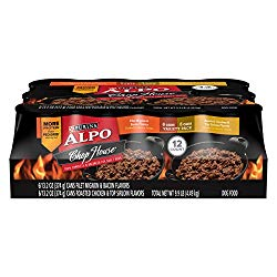 Purina ALPO Wet Dog Food Variety Pack; Chop House Filet Mignon Flavor & Roasted Chicken Flavor – (12) 13.2 oz. Cans
