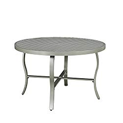 Home Styles 5700-32 South Beach Round Outdoor Patio Dining Table, 48″, Gray