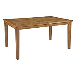Modway Marina 60″ Teak Wood Outdoor Patio Dining Table in Natural