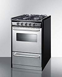20″ Wide Slide-In Gas Range with Stainless Doors & Sealed Burners