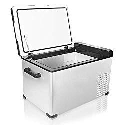 Aspenora Car Refrigerator 30-Quart Portable Freezer Compressor Electric Cooler Car fridge Portable Freezer Mini Fridge with Freezer -4°F ~ 68°F – 12V/24V DC (30-Quart)