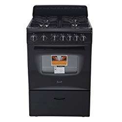 AVANTI GR2415CB Gas Range Sealed Burners, 24″, Black