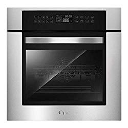 Empava 24″ 10 Cooking Functions W/ Rotisserie Electric LED Digital Display Touch Control Built-in Convection Single Wall Oven EMPV-24WOC02