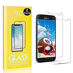 Galaxy S7 Tempered Glass Screen Protector, Bear Village HD Screen Protector, Bubble Free, Anti Scratch Screen Protector Film for Samsung Galaxy S7, 2 Pack