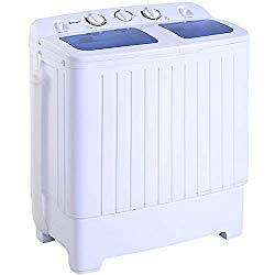 Giantex Portable Compact Twin Tub Washing Machine 17.6lbs Mini Washer Spain Spinner