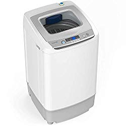 hOmeLabs 0.9 Cu. Ft. Portable Washing Machine – 6 Pound Capacity, Top Loading, 5 Wash Cycles, 3 Water Level Selections and LED Display – Perfect for Apartments, RVs and Small Space Living