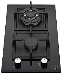 K&H 2 Burner 12″ Built-in LPG/Propane Gas Glass Cast Iron Cooktop 2-GCW-LPG