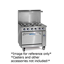 NEW IMPERIAL RANGE 36″ ELECTRIC RANGE 6 ROUND PLATE ELEMENTS 26-1/2″ OVEN IR-6-E