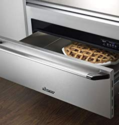 Renaissance Epicure Warming Drawer With Blue LED Light Indicator 4 Timer Settings Plus Infinite Mode 500 Watt Heating Element & 30-in. with SS Handle and Chrome