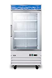 Summit SCFU1211 27 Inch Wide 9.0 Cu. Ft. Merchandiser Freezer with Self Closing Doors