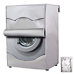 Washing Machine Cover,Washer/Dryer cover For Front-loading Machine Waterproof Dust-proof Thicker (W27″D33″H39″in, Roll edge)