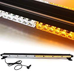 """48"""" 102 LED 7 Flash Mode Traffic Advisor Four Side Rooftop Emergency Hazard Warning Strobe Light with Four Strong Magnetic Base, 102W, IP65 Waterproof for Snow Plow, Trucks or Construction Vehicles"""