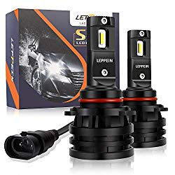 9005/HB3 LED Headlight Bulbs leppein S Series High Beam 12xCREE Chips 6500K 6000LM Cool White Halogen Replacement-1 Pair