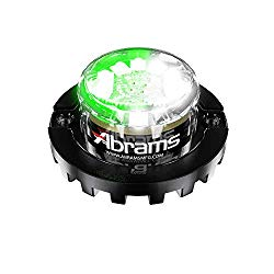 Abrams SAE Class-1 Blaster 120 (Green/White) 36W – 12 LED Tow Truck Construction Vehicle LED Hideaway Surface Mount Strobe Warning Light