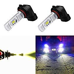 Alla Lighting H10 LED Fog Light Bulb, 9145 9140 9040 9045 ETI 56-SMD 3800 Lumens Extremely Super Bright Cars Trucks 9145 CANBUS LED Lights, 6000K Xenon White