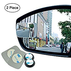 Ampper Blind Spot mirror, Square HD Glass Convex Rear View Mirror, Strengthened Adhesive and Upgrade Stick Area, Pack of 2 (Upgraded)