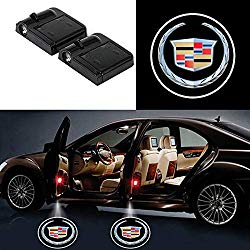 Bearfire 2 Pcs Wireless Car Door Led Welcome Laser Projector Logo Light Ghost Shadow Light Lamp Logos (cadillac)