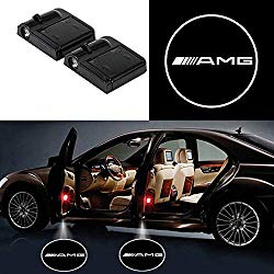 Bearfire 2 Pcs Wireless Car Door Led Welcome Laser Projector Logo Light Ghost Shadow Light Lamp Logos (fit amg)