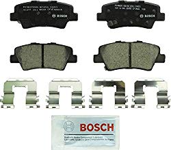 Bosch BC1544 QuietCast Premium Ceramic Disc Brake Pad Set For Hyundai: 2012-2017 Accent, 2011-2016 Elantra, 2013-2014 Elantra Coupe; Kia: 2014-2017 Optima, 2012-2017 Rio; Rear