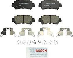 Bosch BC1624 QuietCast Premium Ceramic Disc Brake Pad Set For Mazda: 2016-2017 CX-3, 2013-2017 CX-5; Rear