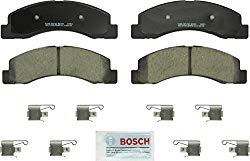 Bosch BC824 QuietCast Premium Ceramic Disc Brake Pad Set For Ford: 2000-2005 Excursion, 2001-2004 F-250 Super Duty, 2001-2004 F-350 Super Duty; Front