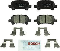 Bosch BC828 QuietCast Premium Ceramic Disc Brake Pad Set For Toyota: 2000-2007 Avalon, 2000-2006 Camry, 2000-2008 Solara; Rear