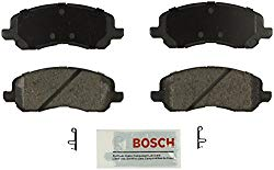 Bosch BE866 Blue Disc Brake Pad Set for Select 2001-15 Chrysler, Dodge, Jeep, and Mitsubishi Cars and SUVs – FRONT