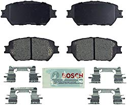 Bosch BE908H Blue Disc Brake Pad Set with Hardware for Lexus: 2006 GS300, 2009-13 IS250 and Toyota: 2002-06 Camry- FRONT