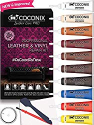 Coconix Vinyl and Leather Repair Kit – Restorer of Your Furniture, Jacket, Sofa, Boat or Car Seat, Super Easy Instructions to Match Any Color, Restore Any Material, Bonded, Italian, Pleather, Genuine