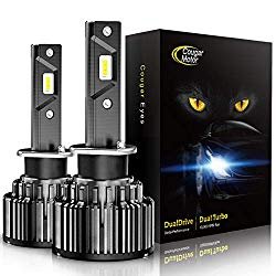 Cougar Motor H3 LED Headlight Bulbs, 10000Lm 6K Xenon White All-in-One Conversion Kit