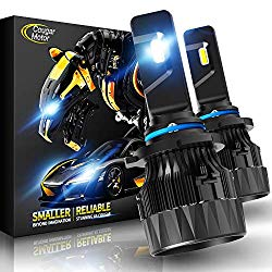 Cougar Motor X-Small 9006 LED Headlight Bulb, 10000Lm 6500K (HB4) All-in-One Conversion Kit – Cool White CREE